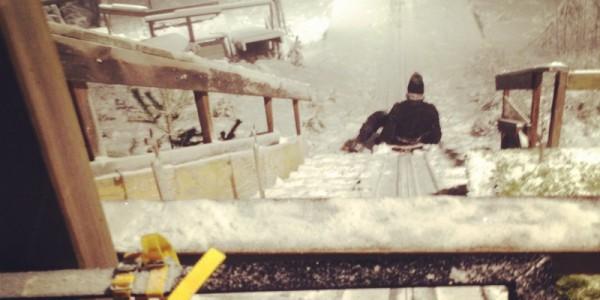 Rutschkana i skidhoppsbacke!